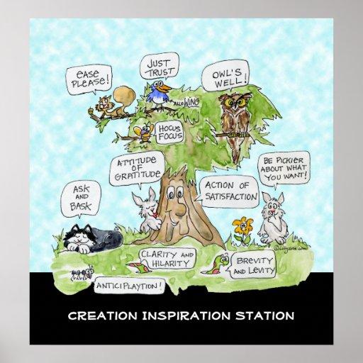 Poster lindo de la estación de la inspiración de l