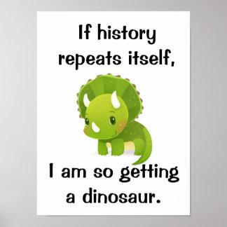 Poster lindo de la historia del dinosaurio