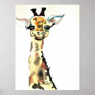 Poster lindo de la jirafa de CMCarlson