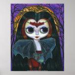 Poster lindo de la muñeca del vampiro