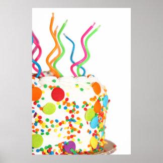 Poster lindo de la torta