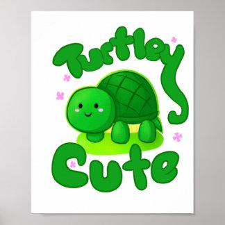 Poster lindo de la tortuga