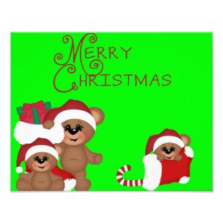 Poster lindo de los osos de las Felices Navidad Fotografías