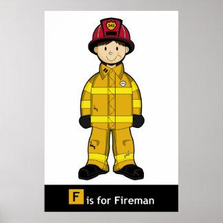 Poster lindo del bombero