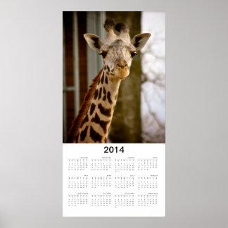 Poster lindo del calendario de la foto 2014 de la