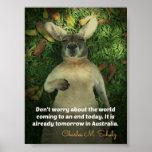 Poster lindo del canguro de Australia