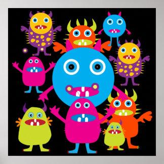 Poster lindo del fiesta de las criaturas del golpe