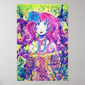Poster lindo del florista