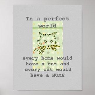 poster lindo del gato del gatito con cita del text