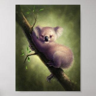 Poster lindo del oso de koala