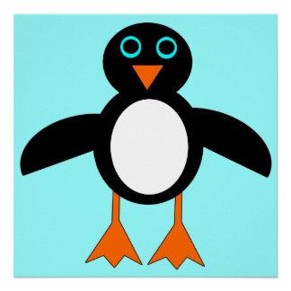 Poster lindo del pingüino perfect poster
