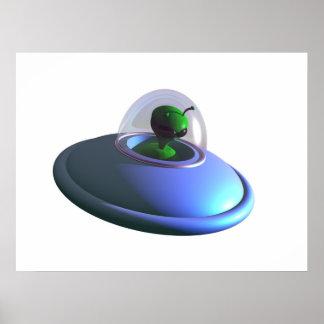 Poster lindo del UFO de Lil