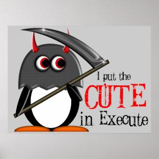 Poster lindo malvado del verdugo de Penguin™