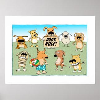 Poster lindo y divertido de la regla de los perros