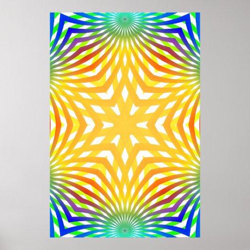Poster: Líneas radiales abstractas