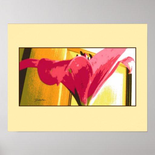 Poster - lirio de color rosa oscuro