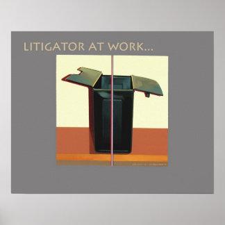 """Poster """"Litigator del abogado del abogado en el tr"""