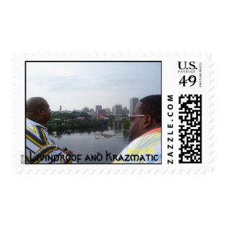 poster, Livinproof and Krazmatic Stamp