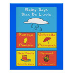 Poster lluvioso del externado
