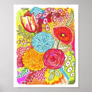 Poster loco de las flores
