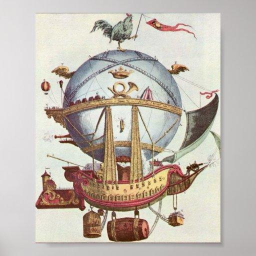 Poster loco del globo del vintage