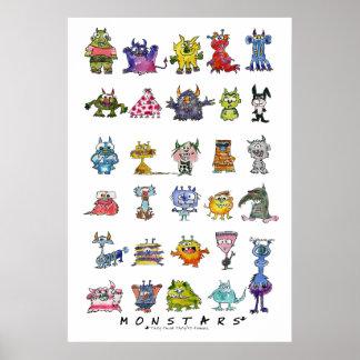 Poster loco divertido del monstruo (MonSTARS*)