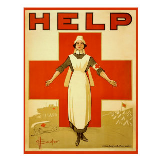 Poster-Lona de la guerra mundial del vintage de la Póster