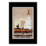 Poster Londres del viaje del vintage