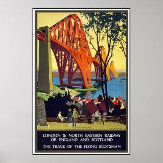 Poster Londres Escocia del viaje del vintage
