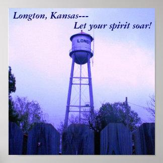 Poster: Longton, Kansas--- Let your spirit soar! Poster