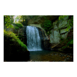 Poster Looking Glass Falls - Brevard NC - (P...