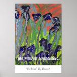 """Poster: """"Los iris"""" por Raymonde"""