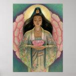 """Poster """"Lotus de la diosa del corazón rosado"""" de K"""