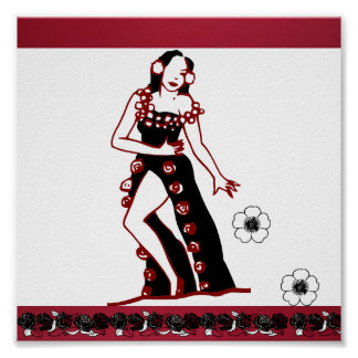 Poster-Love the Arts-Flamenco Dancer Poster