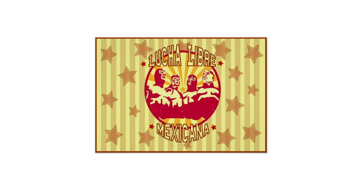 Poster Lucha Libre Mexicana | Zazzle.com