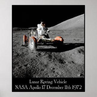 Poster lunar del vehículo de Apolo 17