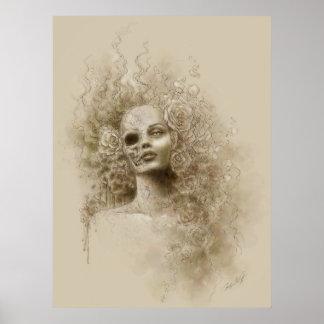 Poster macabro del arte de la fantasía del olvido
