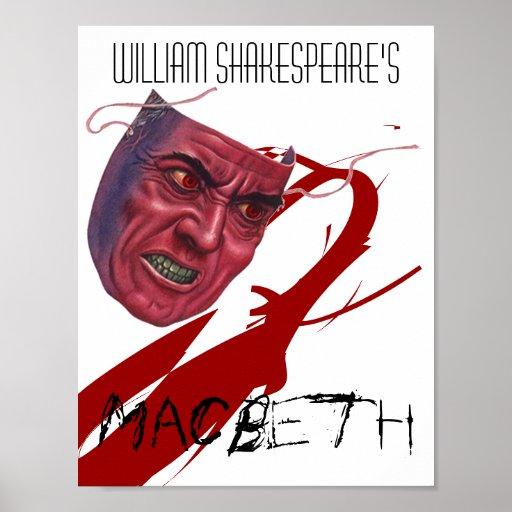 Poster Macbeth del juego del teatro de William Sha