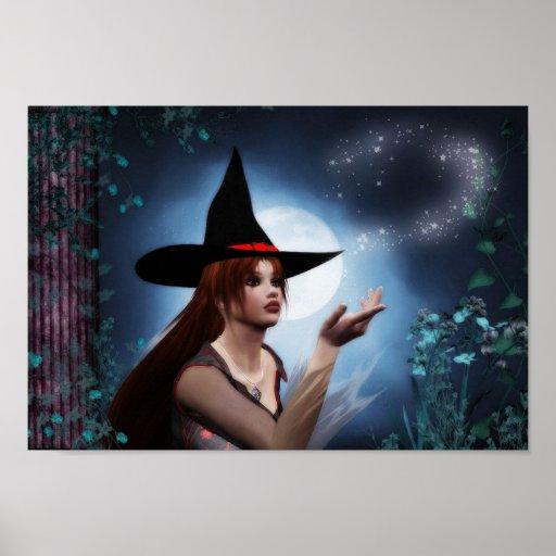 Poster mágico de la bruja