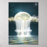 Poster mágico de la cascada de la luna