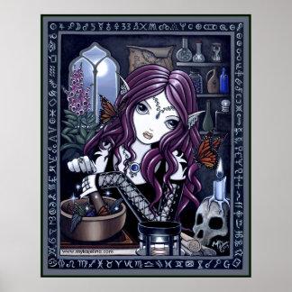 Poster mágico de la fantasía del taller del alquim