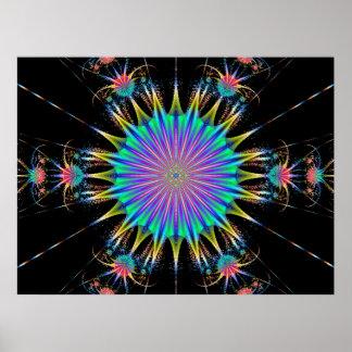 Poster mágico de la flor del desierto