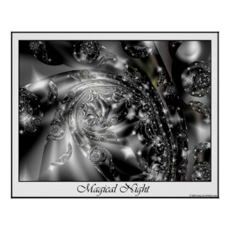 Poster mágico de la noche póster