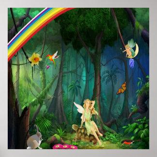 Poster mágico del bosque