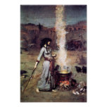 Poster mágico del círculo del Waterhouse del Pre-R