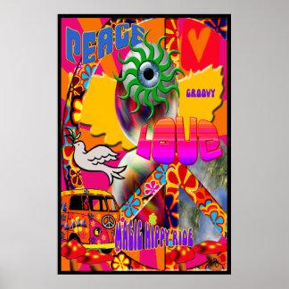 Poster mágico del paseo del hippy