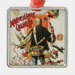 Poster mágico del vintage, mago Chungkin Ling Soo Adorno Navideño Cuadrado De Metal