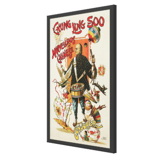 Poster mágico del vintage, mago Chungkin Ling Soo Impresión En Lienzo