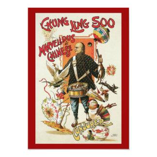 """Poster mágico del vintage, mago Chungkin Ling Soo Invitación 5"""" X 7"""""""