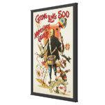 Poster mágico del vintage, mago Chungkin Ling Soo Lona Estirada Galerías